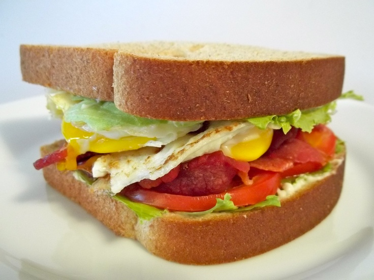 BELT: Bacon, Egg, Lettuce, and Tomato. Maybe egg salad would make it ...