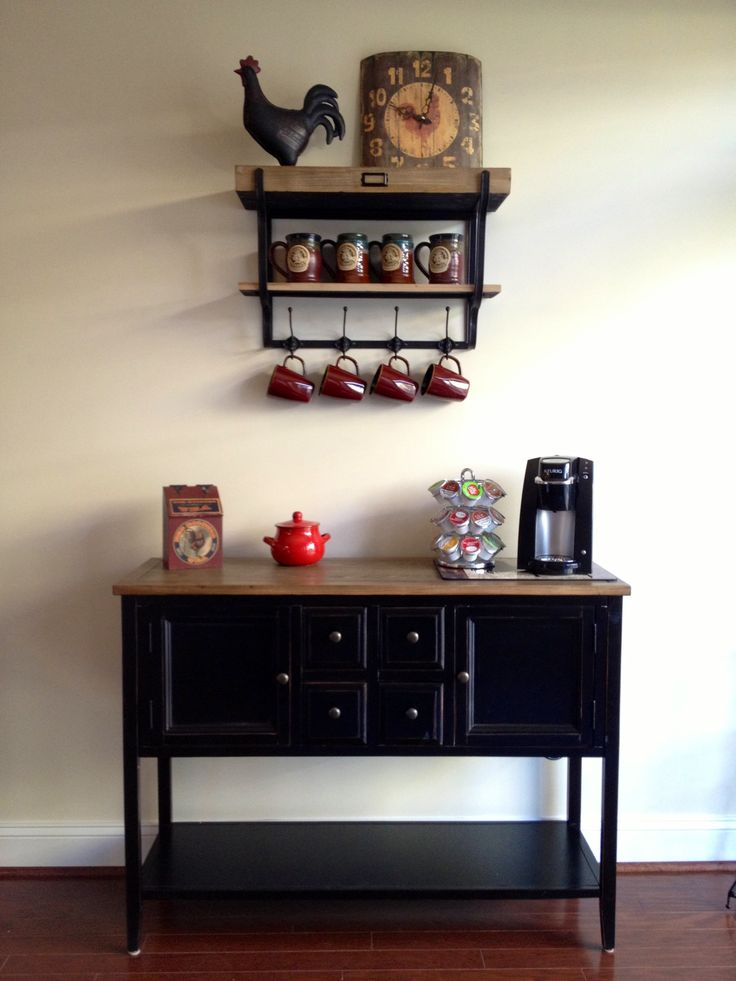 My new coffee bar obsessed coffee pinterest for Coffee kitchen designs