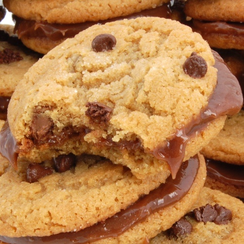 Peanut Butter Sandwich Cookies With Milk Chocolate Filling Recipes ...