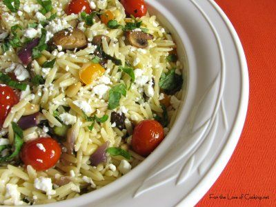 For the Love of Cooking » Orzo with Roasted Vegetables http://www ...