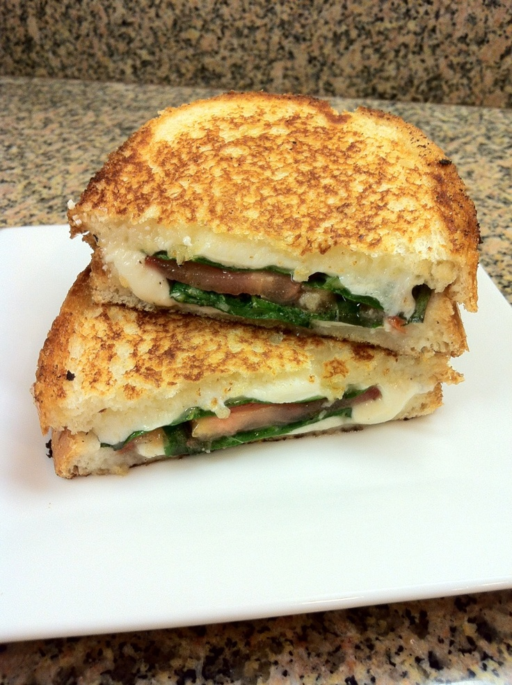 Caprese Grilled Cheese Sandwich Recipe — Dishmaps
