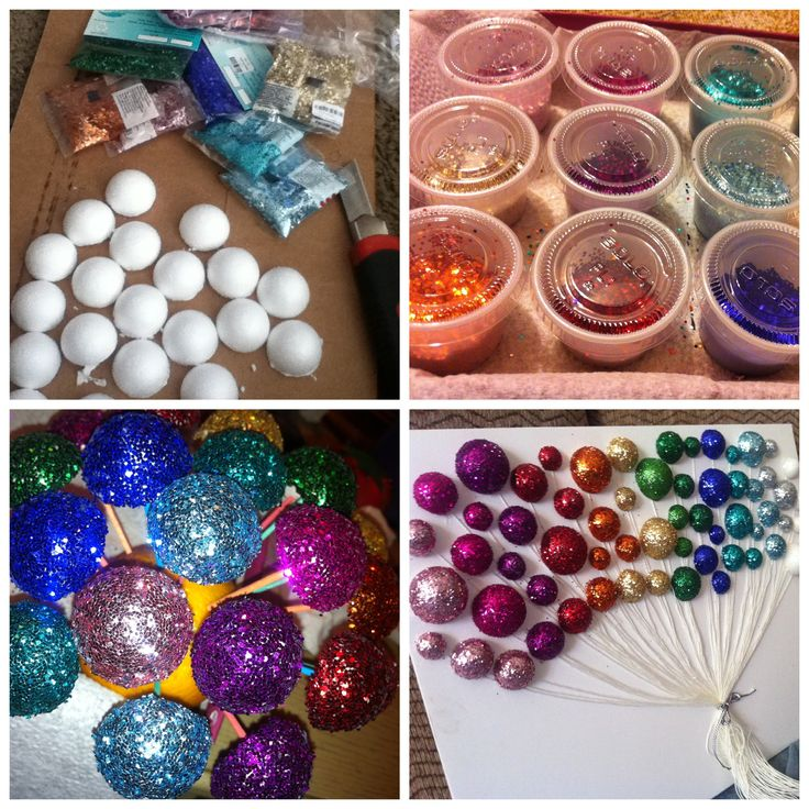 Diy balloon wall decoration diy glitter balloons art for Balloon decoration ideas diy