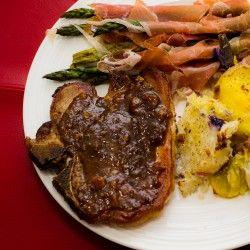 Pork Chops with Bourbon-Peach Sauce | Greatest Food Blogger Recipes ...