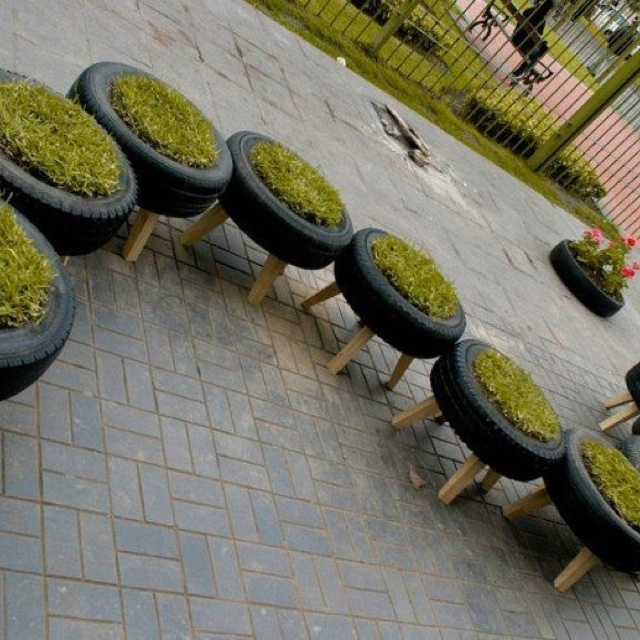 Recycled Outdoor Seating Garden Ideas Pinterest