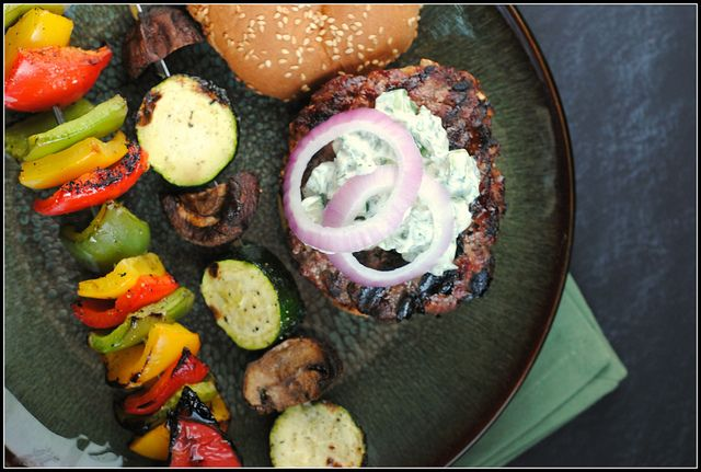 ... with lemon cumin yogurt lamb burgers with cilantro raita recipe