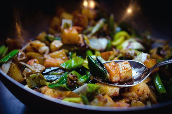 Warm Smoked Russet Potato Salad with Bagna Cauda Dressing