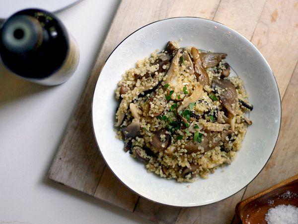 Mushroom Quinoa Risotto | Food. | Pinterest