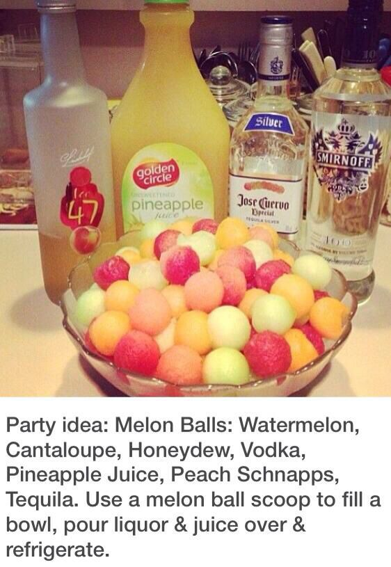 Melon ball jungle juice drinks alcoholic pinterest for What s in a melon ball drink