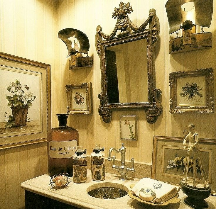 Charles faudree bathroom vignette vignettes pinterest for Charles faudree antiques and interior designs