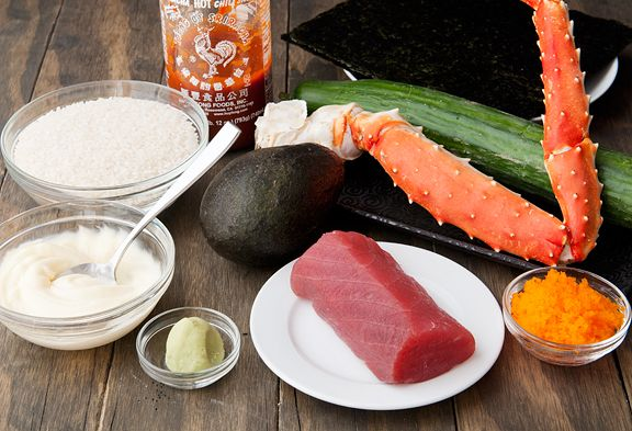 volcano roll sushi recipe | Foodie Lover | Pinterest