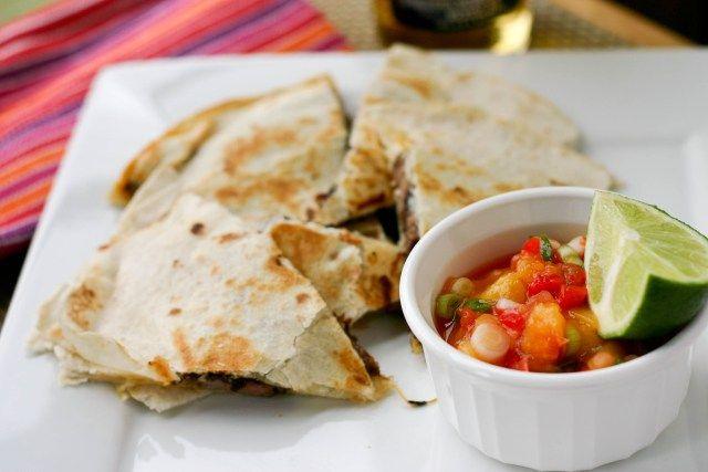 peach salsa and steak quesadillas | Fashion and Food | Pinterest