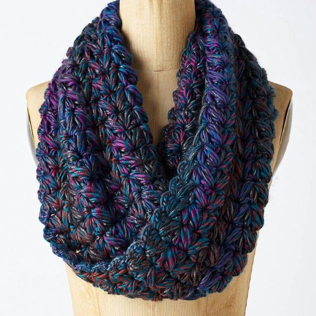 The colors in this Anthropologie cowl are beyond beautiful How To Knit An Infinity Scarf Beginners