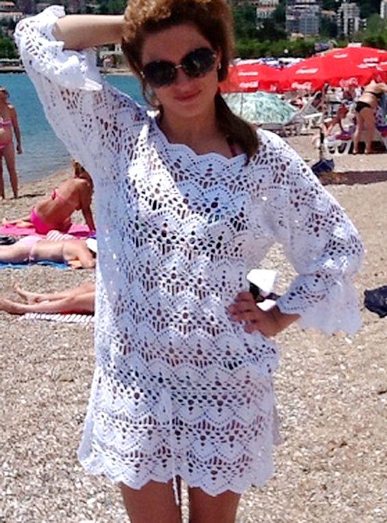 Вязание крючком на пляж 82