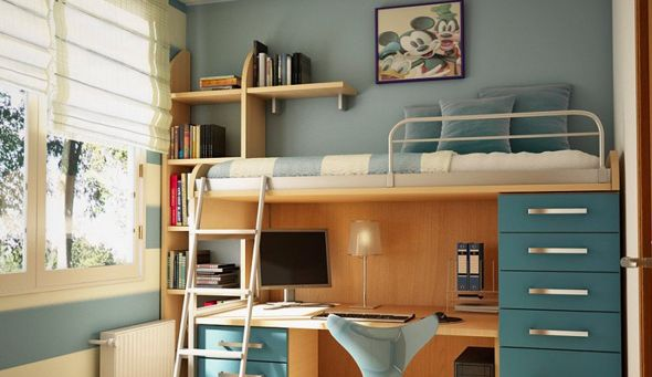 Double deck bedroom 590 341 house designs pinterest - Double deck bed designs for small spaces pict ...