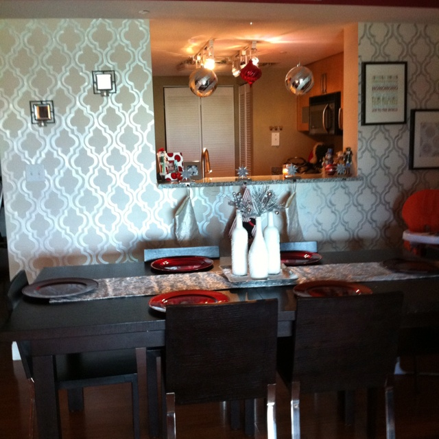 dining room accent wall for the home pinterest
