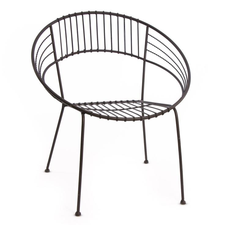 Round Metal Outdoor Chair DECORAÇO Cadeiras e Poltronas