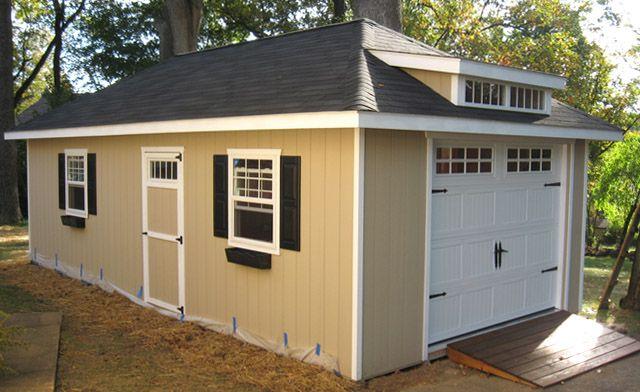 1 Car Garage With Transom Dormer Garages And Sheds