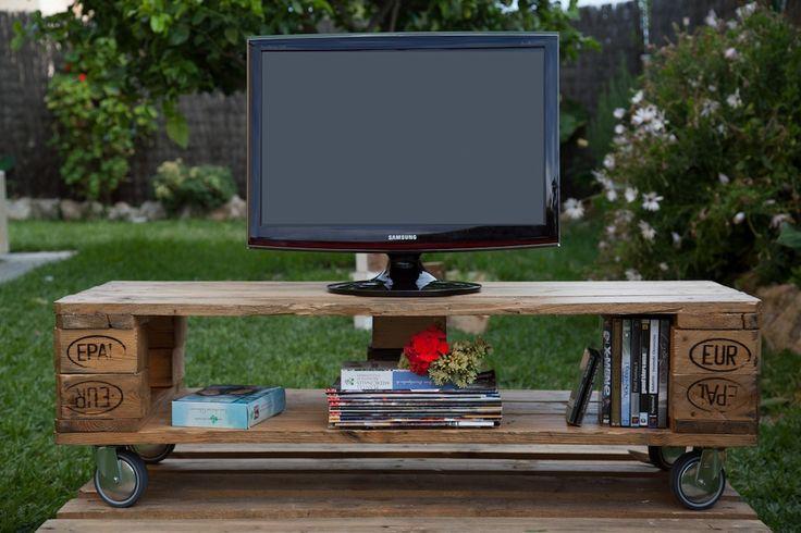 Meuble Tele Avec Palette : Meuble Télé Fabriquée Avec Des Palettesbricolerpinterest