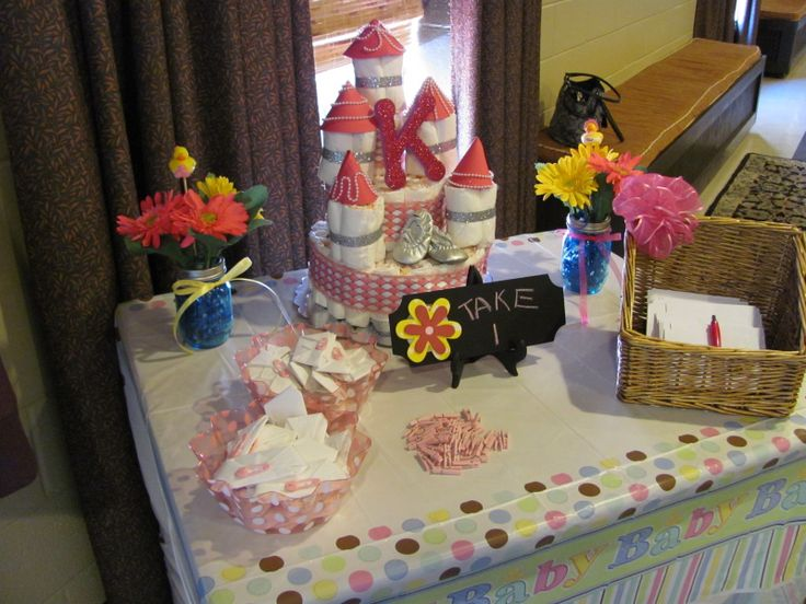 game table baby shower ideas girl pinterest