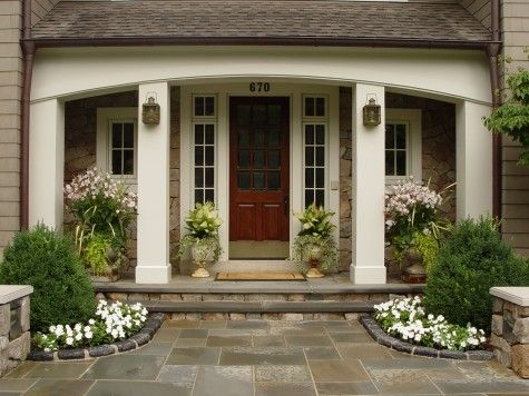 Front door entry landscaping ideas pinterest for Front entrance landscaping ideas