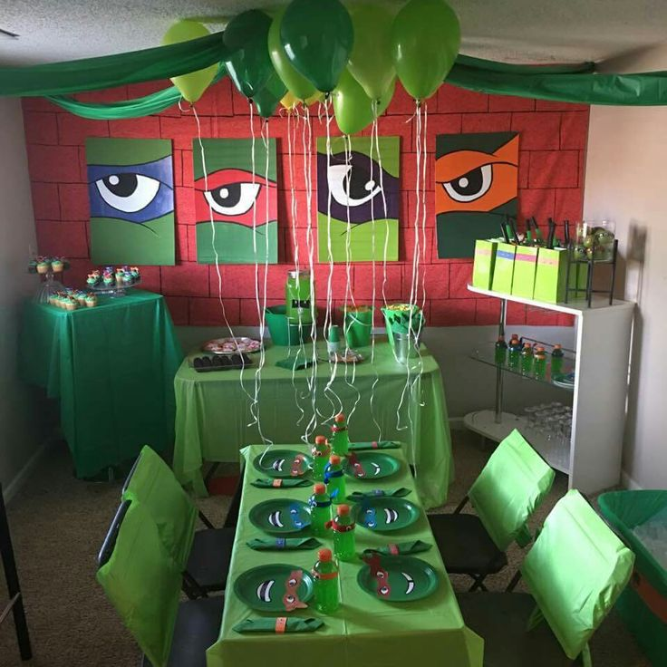 The Best Tmnt Party Food Party Ideas Turtle Birthday Parties