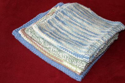 Plain & Simple Burp & Wash Cloths: free knit pattern