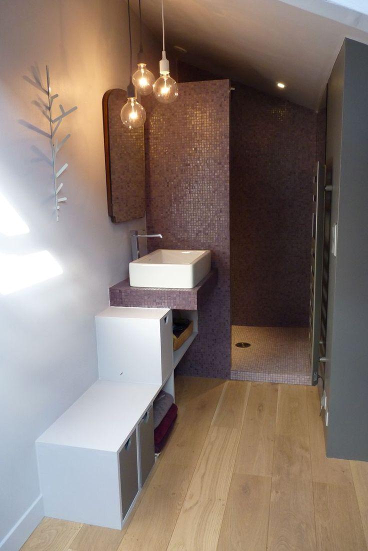 Salle d 39 eau salle de bain pinterest - Comment amenager une petite salle de bain ...
