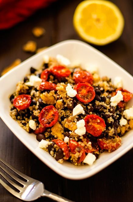 Oven Roasted Tomato, Black Bean & Quinoa Salad | Recipe
