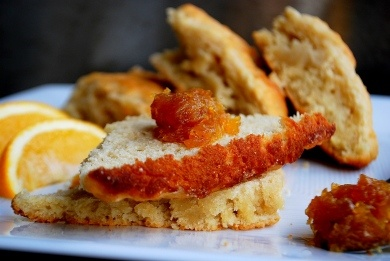 Vanilla Scones with Meyer Lemon Jam & Walnut Butter. Bright, tangy ...