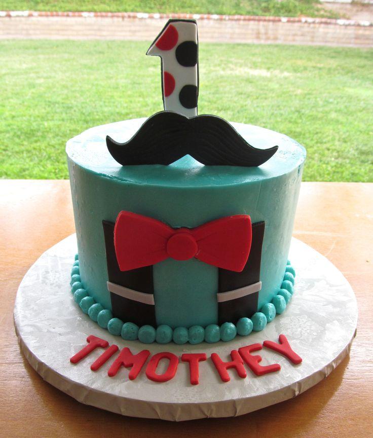 Little Man First Birthday Cake  Milk & Honey Cakery  Pinterest