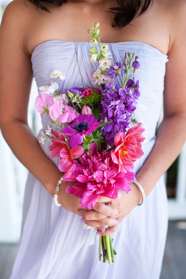 colorful bridesmaid bouquet