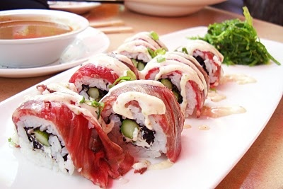 More like this: sushi rolls , beef and rolls .