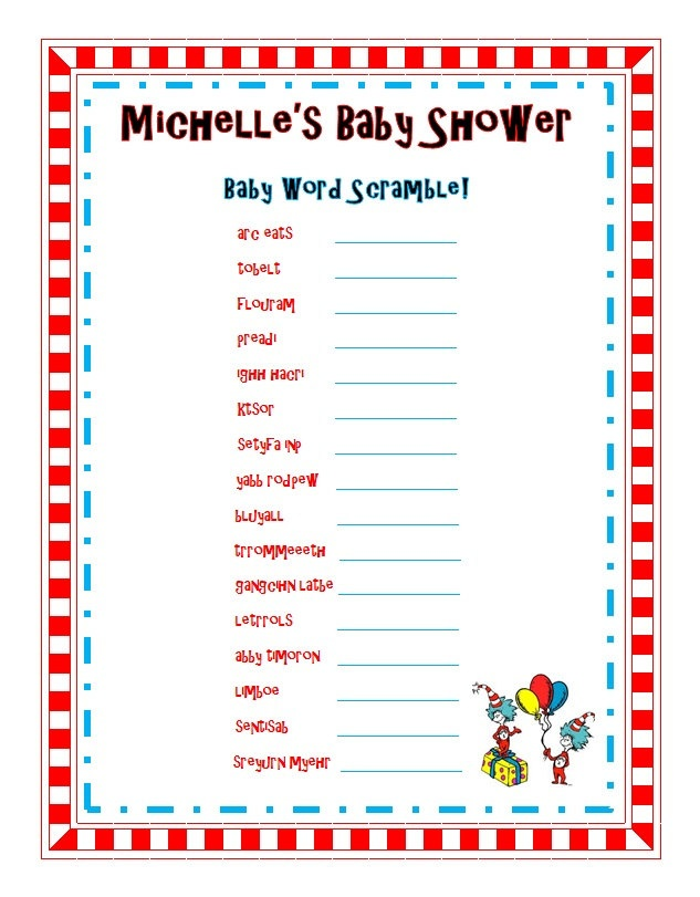 dr seuss baby shower games dr seuss baby shower sprinkle party word
