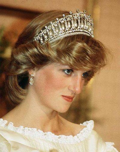 Diana wearing the Cambridge Lovers Knot tiara