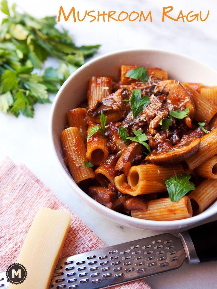 Mushroom Ragu with Rigatoni | Recipe