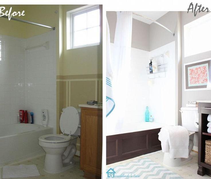 Beautiful DIY Bathroom Makeover   Bath possibilities   Pinterest