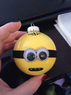 Minion ornaments #DIY #ornaments