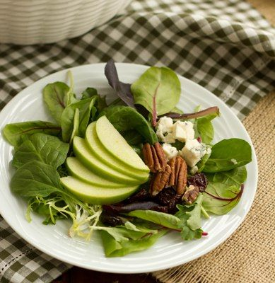 Winter Salad with Apples, Pecans, Blue Cheese and Dried Cherries~ | R ...