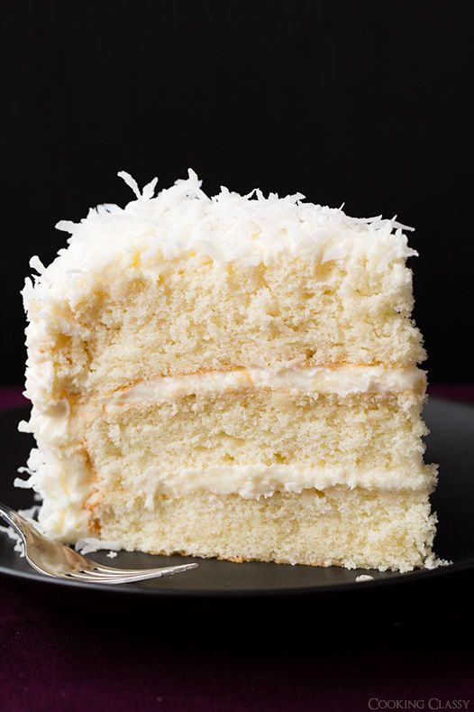 Coconut Cake - this is one of the best cakes I've ever made! So soft ...