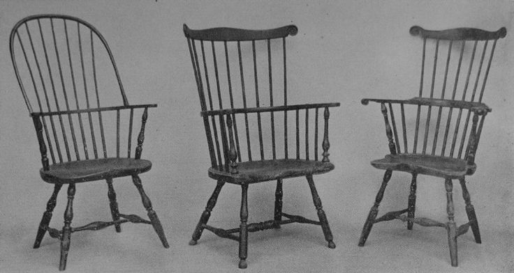 American windsor chairs quite different from the english ones