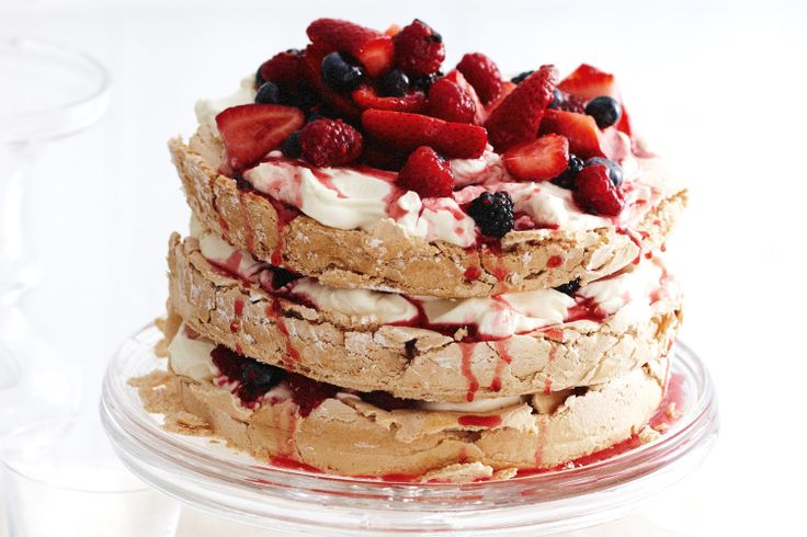 In Spring, serve this pavlova with beautiful fresh berries, but you ...