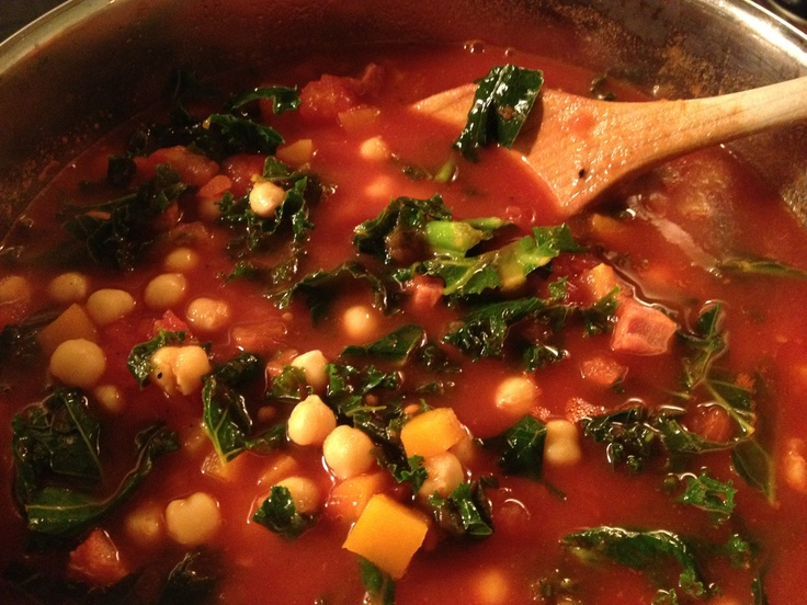 Spicy tomato, chorizo and chickpea soup | Food | Pinterest