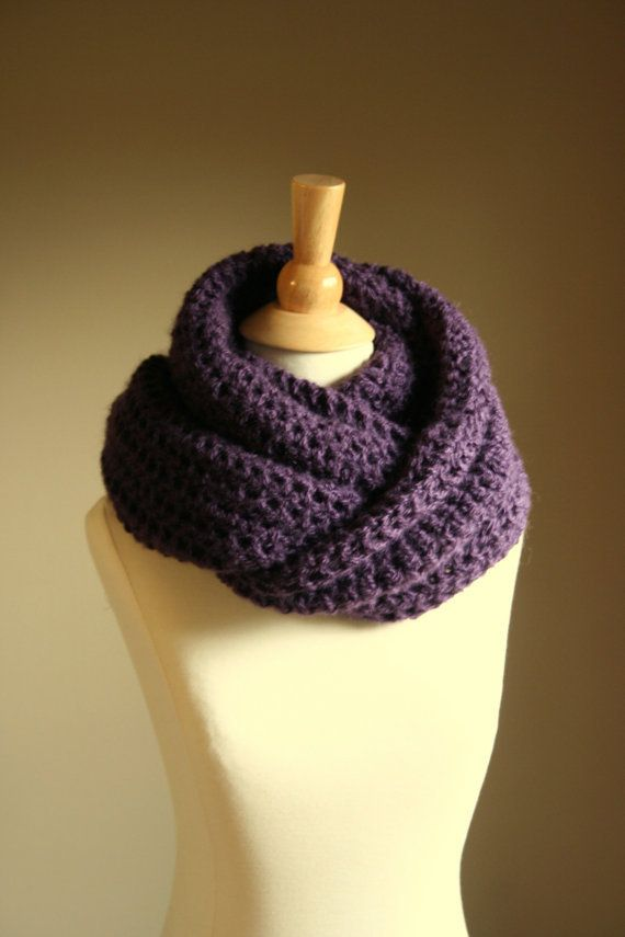 Knitted Infinity Scarf Pattern Pinterest : Pin Infinity Scarf Knitting Pattern For Beginners on Pinterest