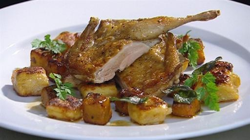 Pan-fried Quail with Gnocchi, Roast Pumpkin, Brown Butter and Sage by ...