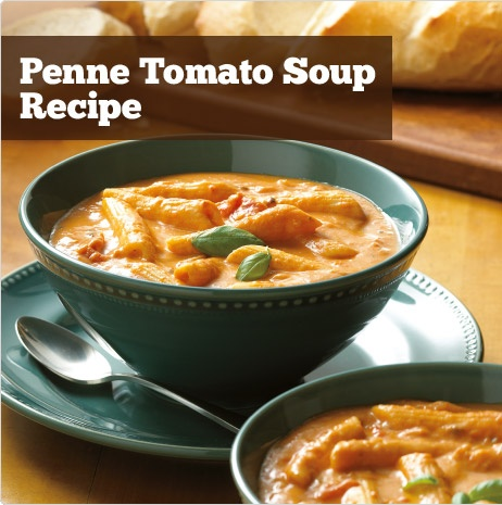 Penne Tomato Soup Recipe | food | Pinterest