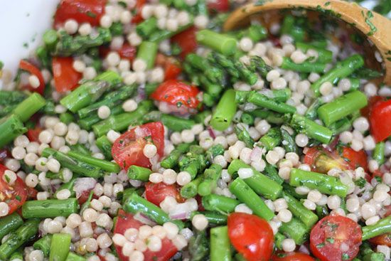 Lemon Asparagus Couscous Salad with Tomatoes | Skinnytaste