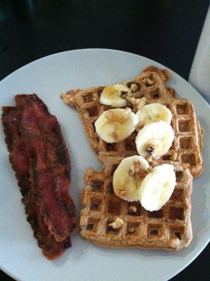 Banana nut protein waffles | Recipes | Pinterest