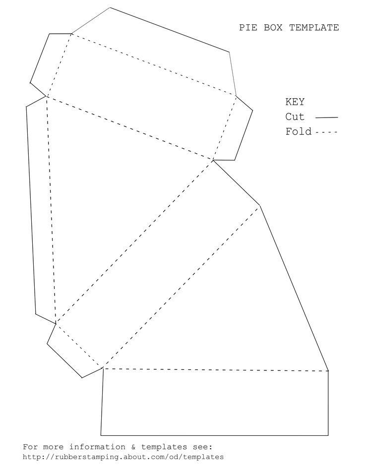 Схема бумажного торта на 8 кусков
