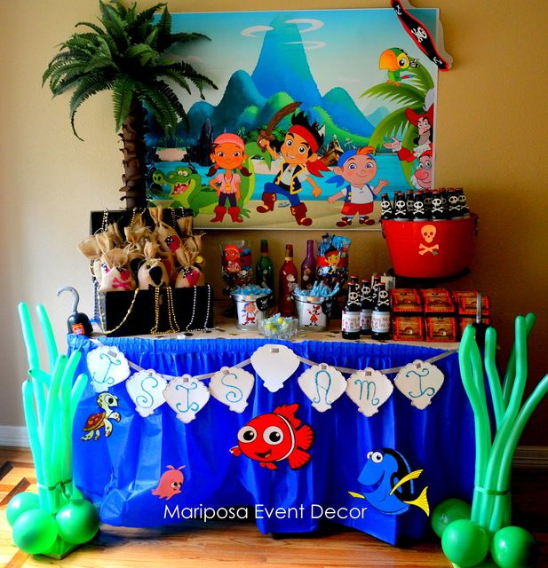 "Photo 1 of 19: All about the sea / Birthday ""Jake and the Neverland Pirates/Finding Nemo """