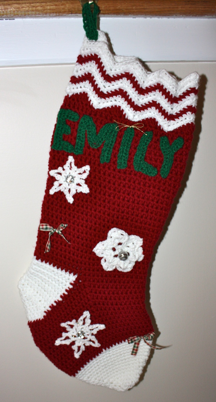 Crochet Xmas Stocking : Crochet Christmas Stocking Crochet: Christmas Pinterest